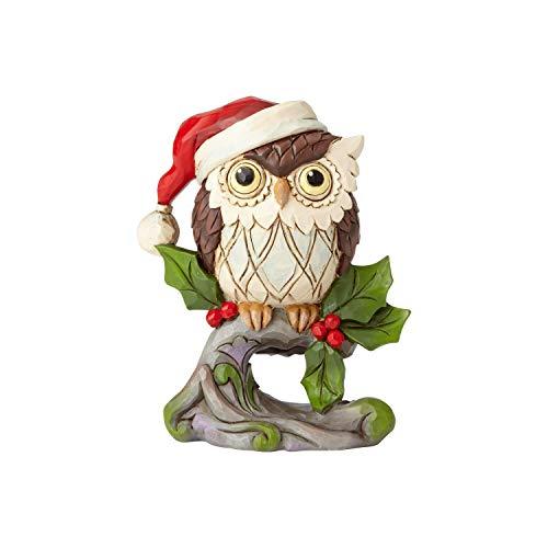 Enesco Jim Shore Heartwood Creek Mini Christmas Owl on Branch -