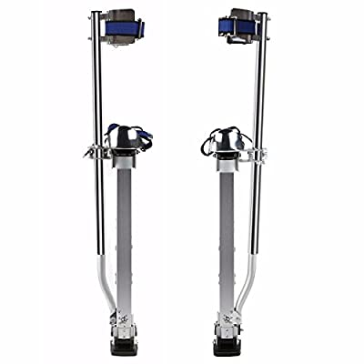 "Eight24hours Drywall Stilts Aluminum 228 lbs 24-40"" lightweight Taping Painter Tool Non Slip"