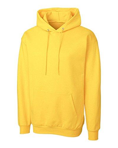 Lightweight Sweatshirt Crewneck (Cutter & Buck MRK02001 Mens Clique Basics Flc P/O Hoodie S-Xxl, Yellow-L)