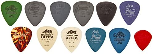 Dunlop PVP102 Pick Variety Pack, Assorted, Medium/Heavy, 12/Player's Pack