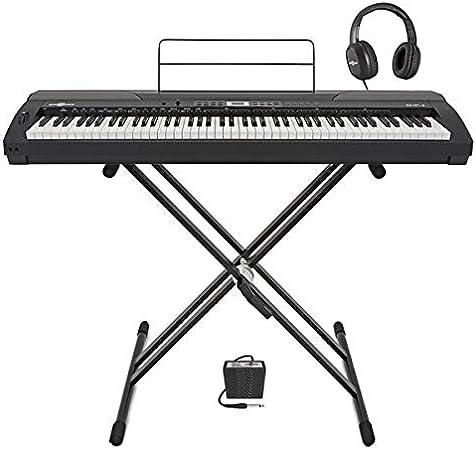 Piano de Escenario SDP-4 de Gear4music + Soporte pedal y auriculares