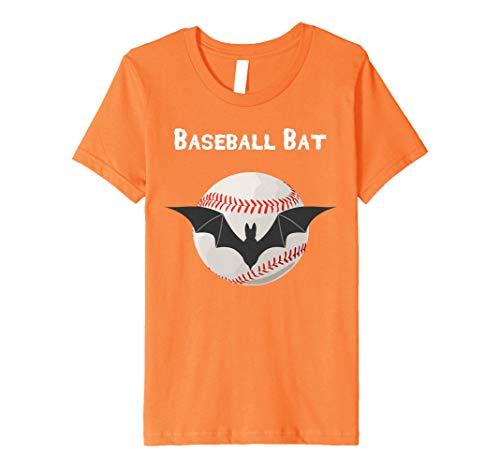 Kids Premium Baseball Bat Baseball Themed Halloween T-Shirt