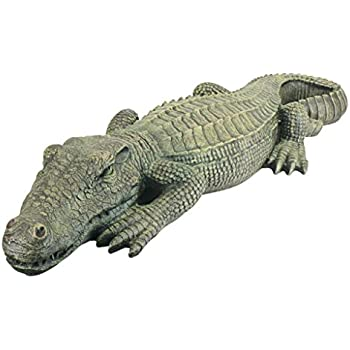 Design Toscano The Swamp Beast Lawn Alligator Crocodile Garden Sculpture,  37 Inch, Polyresin,