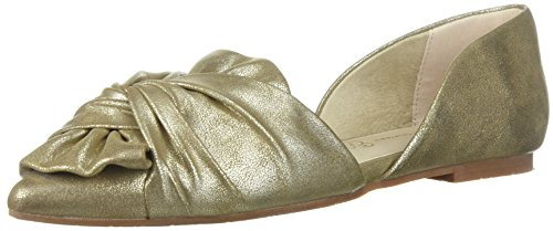 BC Footwear WoMen Snow Cone Ballet Flat Gold Distressed