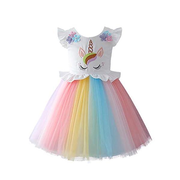 scegli il meglio codici promozionali vendita ufficiale IBTOM CASTLE Costume da Unicorno Arcobaleno Vestito Elegante ...