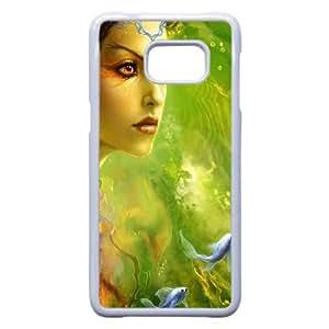 Carp esperma Samsung Galaxy S6 Edge + Plus caja del teléfono celular funda blanca del teléfono celular Funda Cubierta EEECBCAAH79425