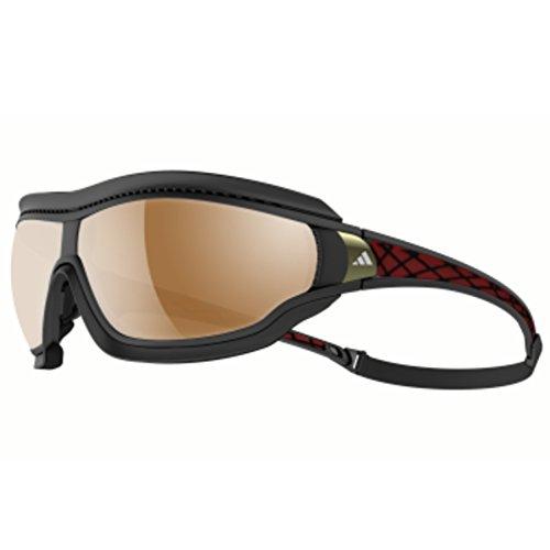 adidas Tycane Pro Outdoor L A196 6050 Rectangular Sunglasses, Black Matte & Red, 82 mm (Adidas Tycane)