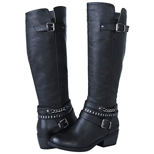 Boots Fashion Black - GLOBALWIN Women's 18YY25 Black Fashion Boots 8M