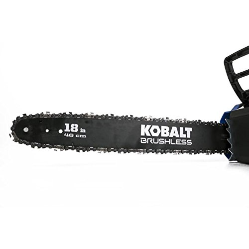 Kobalt 80-volt Lithium Ion 18-in Brushless Cordless Electric Chainsaw (Chainsaw Only, Battery/Charger Not Included)