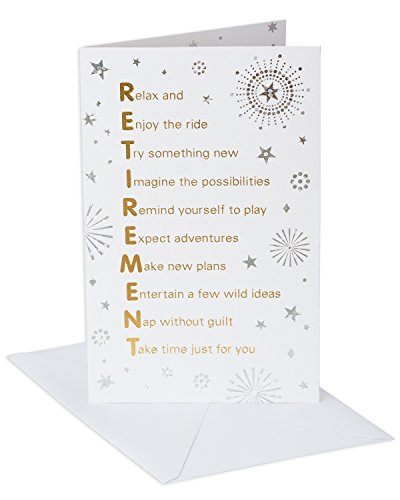 - American Greetings Time of Your Life Retirement Congratulations Card with Foil
