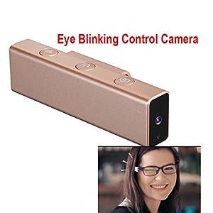 16GB Eye Blinks Control Camera Take Photo Wink Camera 1080P Record 8.0MP Support Wifi Connection Mini Camcorder Twinkle Camera Mini DVR Smart Glasses Recorder