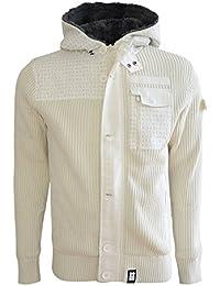 Crosshatch Men's Wharf Knitted Cardigan Zip Up Hoodie