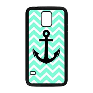 JFLIFE Chevron Anchor Phone Case for samsung galaxy s5 Black Shell Phone [Pattern-1]
