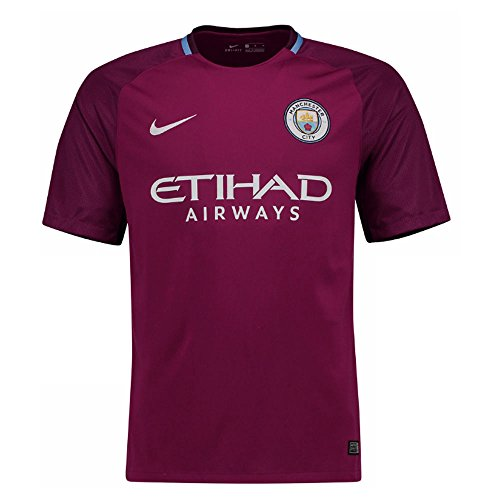 2017-2018 Man City Away Nike Football Shirt (Kids) (Youth Away Official Replica Jersey)