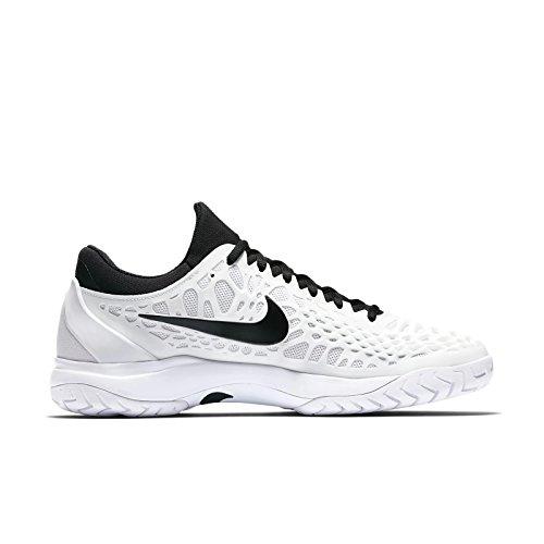 NIKE Men's Zoom Cage 3 Tennis Shoe (11 D US, White/Black)