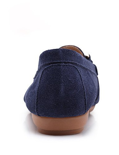 ShangYi Scarpe Donna Mocassini Tempo libero / Ufficio e / lavoro / Casual Comoda / e Punta arrotondata Piatto Di pelle -Blu / Marrone / , dark blue-us8.5 / eu39 / uk6.5 / cn40 , dark blue-us8.5 / eu39 / uk6.5 / cn40 Dark Blue 033142
