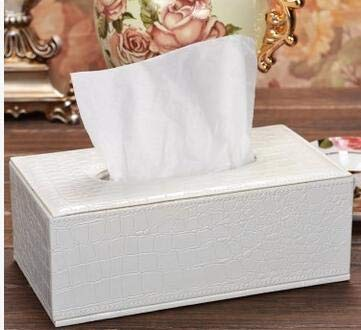 | Tissue Boxes | fashion gold rectangle wooden croco leather pumping tissue napkin box case toilet paper dispenser cover holder storage PZJH002 | by NAHASU ()