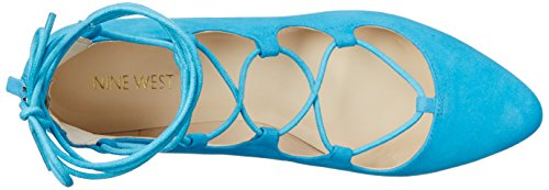 Nine West Signmeup Suede Ballerinas Turquoise