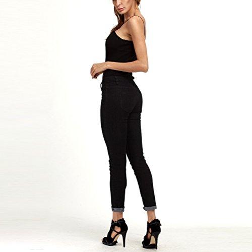Boyfriend Women Slim Pencil Taille Grande Black Skinny Pantalon Zhhlaixing Fashion XXXXXL Trousers Femme Jeans Black Fit z4nw0CBqC