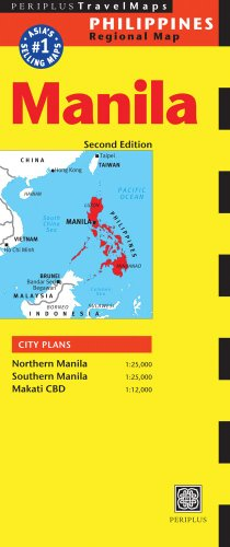 Manila Travel Map Second Edition (Philippines Regional Map)