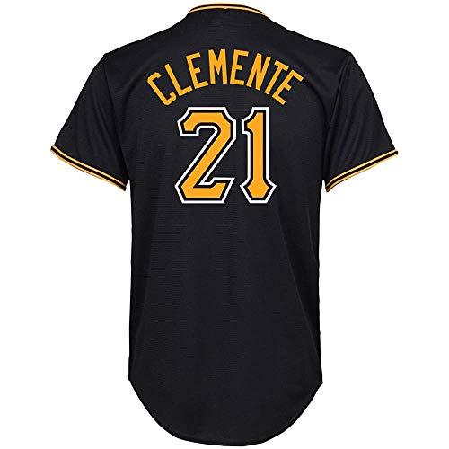 Men/Women/Youth_Roberto_#21_Clemente Youth Cool Base Alternate Replica Baseball Jersey-Black