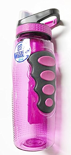 Cool Gear 32 oz. Tritan Avenger EZ Freezer Stick Sport Bottle - Flip Top Chugger Lid - Fuschia by Cool Gear