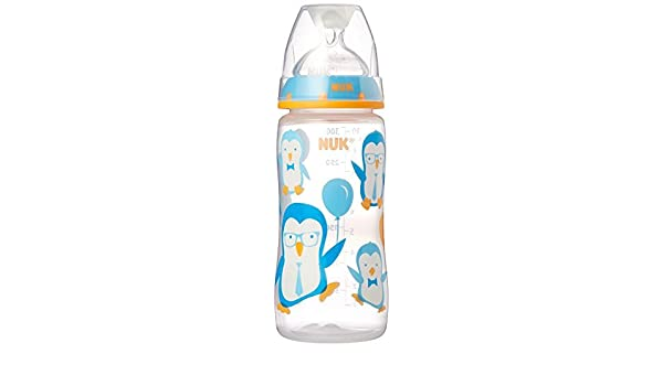 Color May Vary months NUK Trendline Bottle with Silicone Medium Flow Nipple
