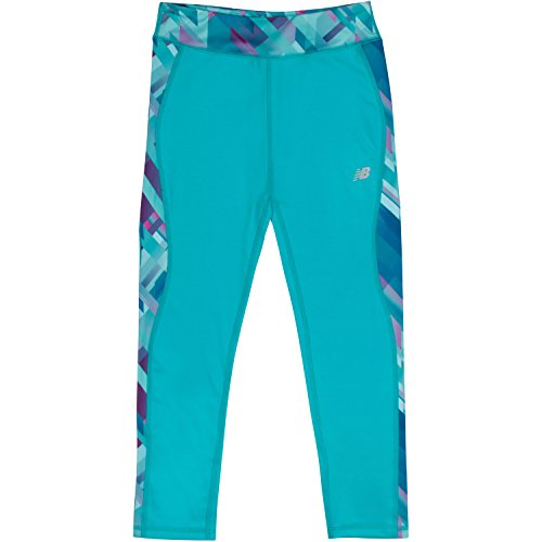 New Balance Girls' Little Fashion Performance Tight, Pisces/Plaid, 6X (New Balance Plaid)