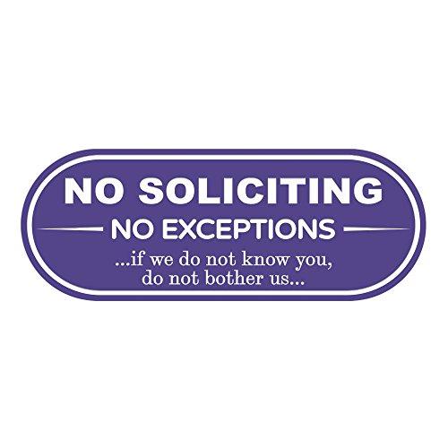 (NO Soliciting NO EXCEPTIONS Door/Wall Sign (Purple) - 3