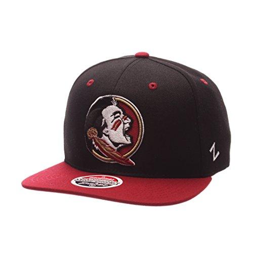 特性爆弾戻るZephyr Men 's Florida State Seminoles z11 Zwool帽子ブラックAdj