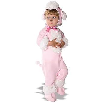 amazoncom rubies pink poodle girls halloween costume newborn 09 mos pink u0026 white clothing