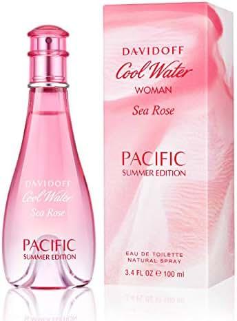 Cool Water Sea Rose Pacific Summer Edition by Da vi doff EDT Spray for Women 3.4 fl oz / 100 ml