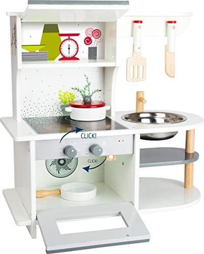 11159 Cucina da gioco minuta per bambini small foot con forno, tegame, pentola, pentola, utensili da cucina e lavabo, a partire da 3 anni