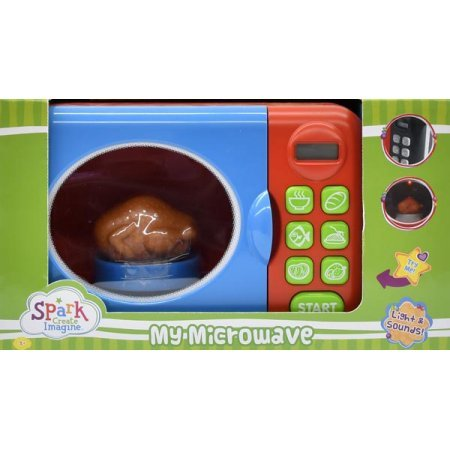 SPARK CREATE IMAGINE MICROWAVE SET REDAND BLUE (Microwave Oven Toy)