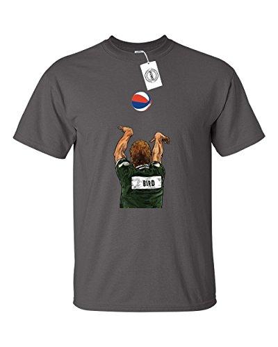 Larry Bird Celtics Jersey (Charcoal Bird Boston