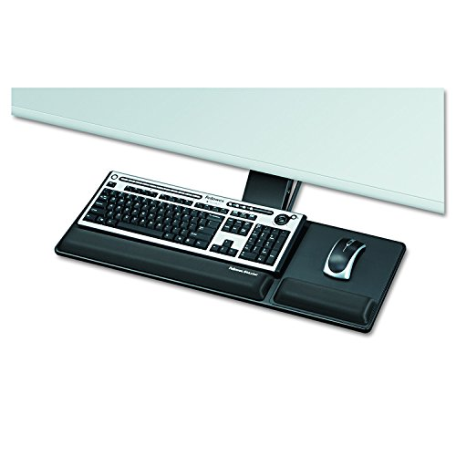 (Fellowes Designer Suites Compact Keyboard Tray, Black (8017801))