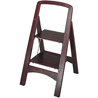 Stupendous Series Two Step Stool Made Of Wood With Mahogany Finish By Rockford 19 63 X 18 00 X 34 63 In Machost Co Dining Chair Design Ideas Machostcouk