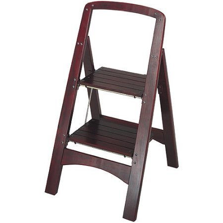 Series Two-Step Stool made of Wood, with Mahogany finish by Rockford, 19.63 x 18.00 x 34.63 IN
