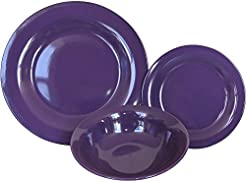 Mainstays 12-Piece Dishwasher and Microwave Safe Stoneware Dinnerware Set in Purple  sc 1 st  Amazon.com & Amazon.com: Purple - Dinnerware Sets / Dining \u0026 Entertaining: Home ...