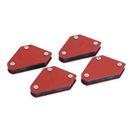 Neilsen CT1930 - Minisoportes magnéticos para soldar (4 unidades), color rojo