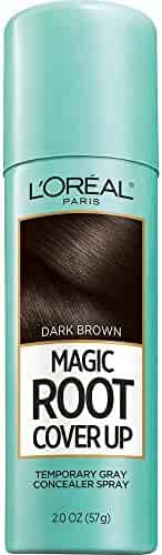 L'Oréal Paris Magic Root Cover Up Gray Concealer Spray, Dark Brown, 2 oz.