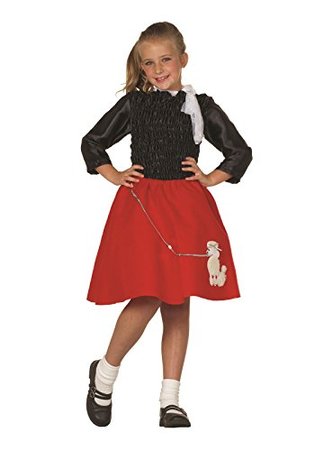 Red Poodle Skirt Costumes (RG Costumes Girls Poodle Skirt, Red/White, Small (4-6))