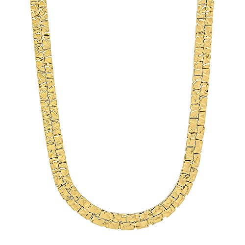 Nugget Chain (5.5mm 14k Gold Plated Nugget Chain Necklace, 30
