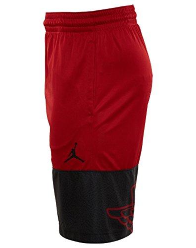 Nike Menns Jordan Vinger Blockout Basketball Shorts Gym Rød / Svart