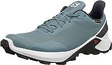 SALOMON Alphacross GTX, Zapatillas de Trail Running Hombre, Azul (Smoke Blue/White/India Ink), 43 1/3 EU