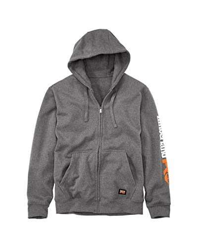 Timberland PRO Big and Tall Hood Honcho Full-Zip Hooded Sweatshirt, Charcoal Heather, XL Tall
