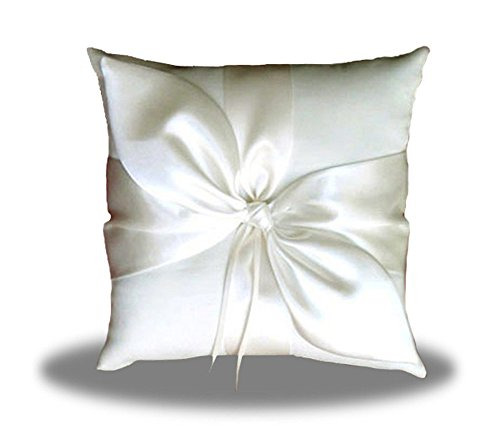 - SACASUSA(TM) Ivory Satin Bow Wedding Ring Pillow Bearer