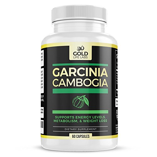 Gold Life Labs Pure Garcinia Cambogia Extract - Premium Potency Formula - HCA 800mg 60 Capsules - Supports Weight Loss, Fuels Metabolism, Suppresses Appetite, Boosts Energy - Made in USA