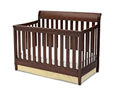 Looking to create a space that grows with your baby? Delta Children's Haven 4-in-1 Crib makes going from newborn to tween as easy as A, B, C. Featuring a slightly curved, sleigh-style headboard and classic molding along the front panel and fe...