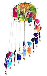MulberryGifts Baby Mobile - Hearts & Owl (Rainbow Color)